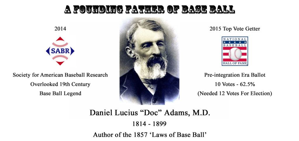 Doc Adams SABR Top Vote Getter FB Laws Rev mug